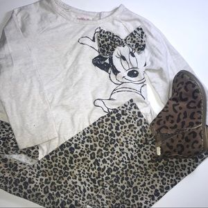 Minnie Mouse leopard set